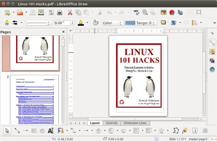 editable PDF files in Ubuntu Linux