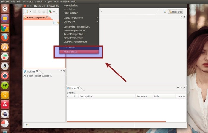 Change color of Eclipse in LInux