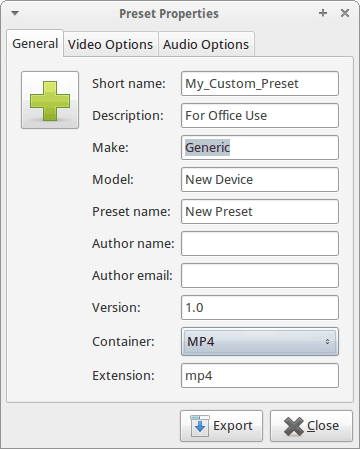 add preset for your device in arista