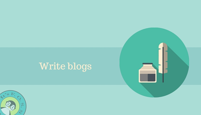 Write blogs about Linux and Open Source
