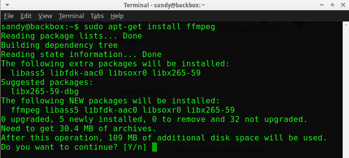 install ffmpeg in ubuntu based distros