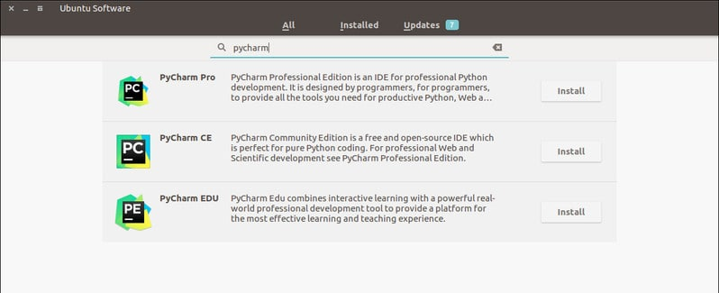 Install PyCharm in Ubuntu