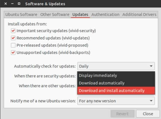 Automatic updates in Ubuntu
