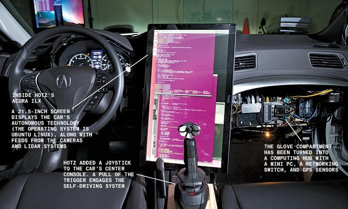 Self driving car built on Ubuntu Linux in one month