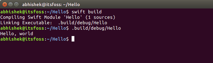 Swift language in Linux