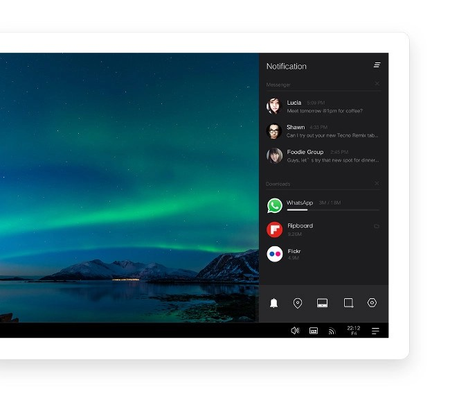 Notification Center to utilize wide screen