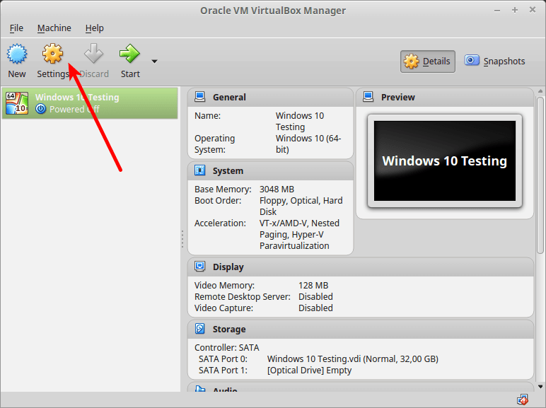 Setting Windows Virtual Machine