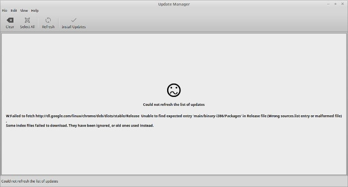 Failed to fetch Linux Mint error
