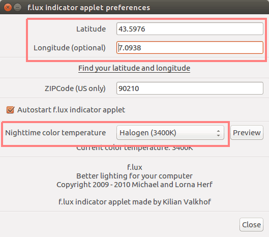 Configure Flux in Ubuntu