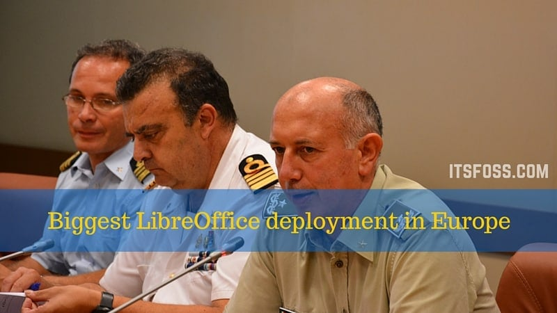 Italian military switches to LibreOffice