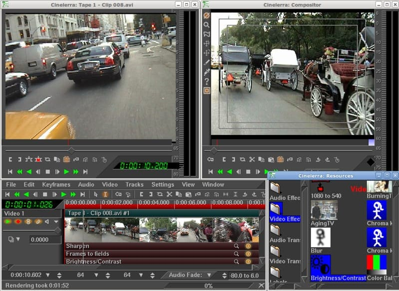 Cinelerra video editor for Linux