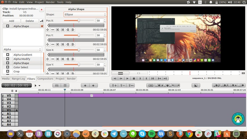Flowblade movie editor on ubuntu