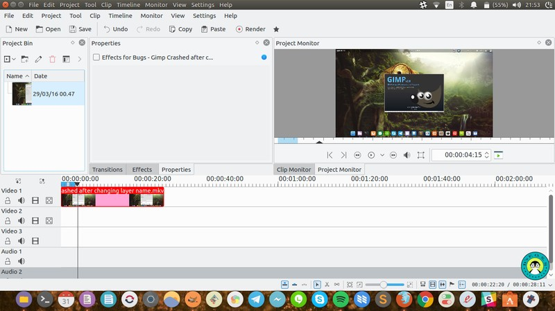 Kdenlive free video editor on ubuntu