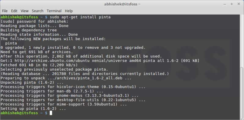 installing packages in Linux