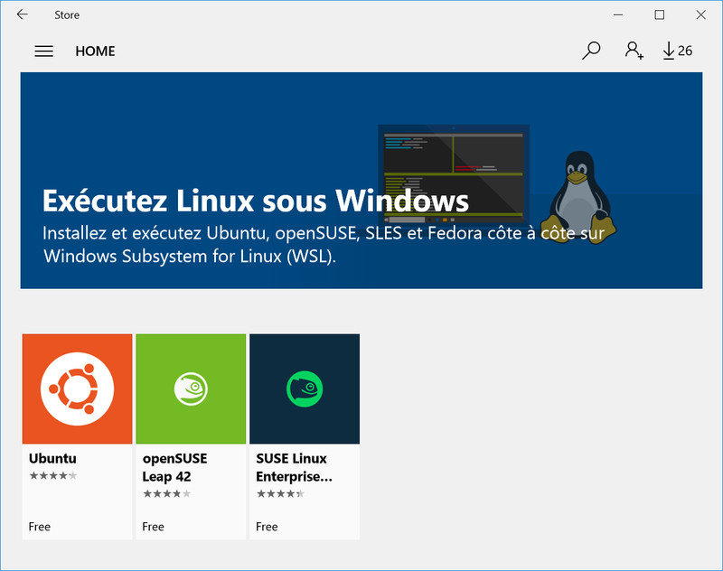 Install Windows Subsyetm for Linux