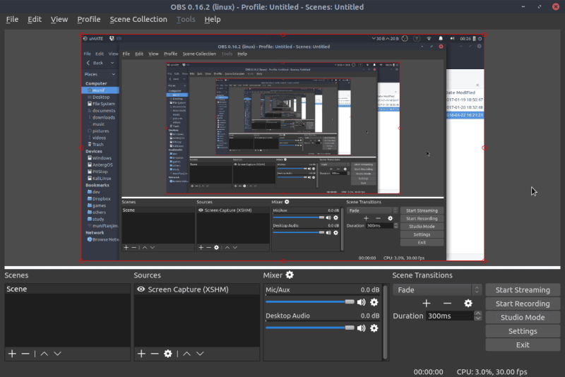 OBS Studio Interface