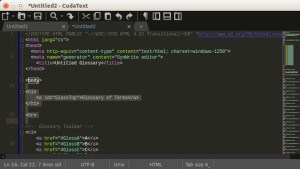 CudaText open source code editor for Linux