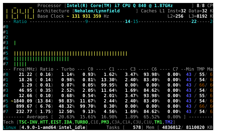 Get detailed CPU information in Linux with CoreFreq
