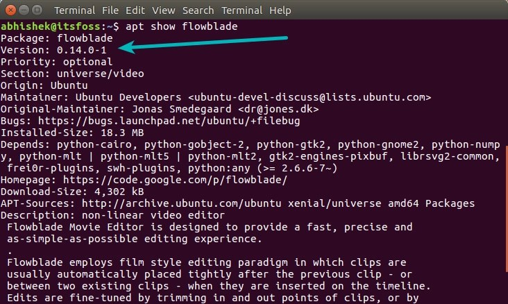 Know the version of a program before installing in terminal