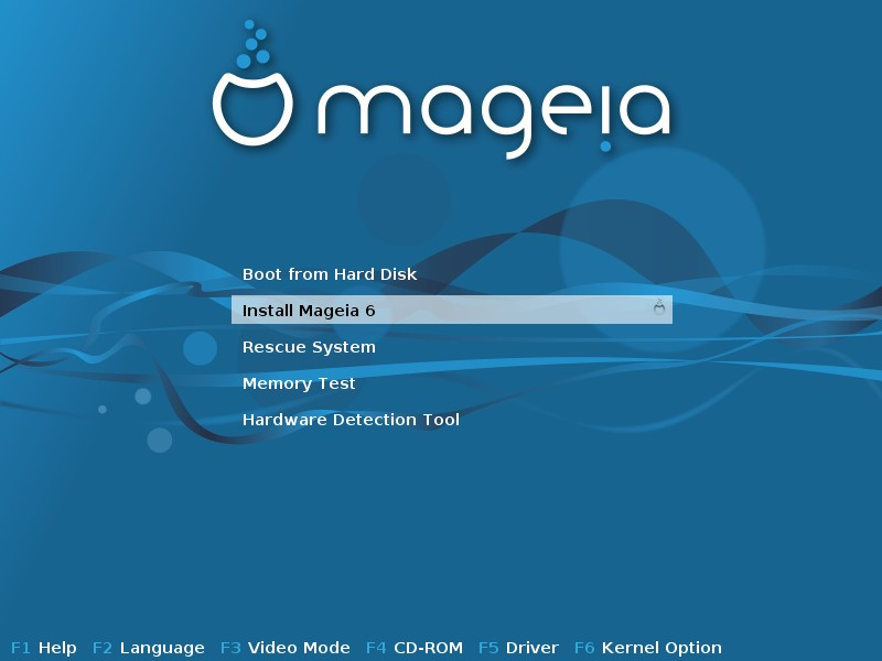Mageia 6 Installation screen