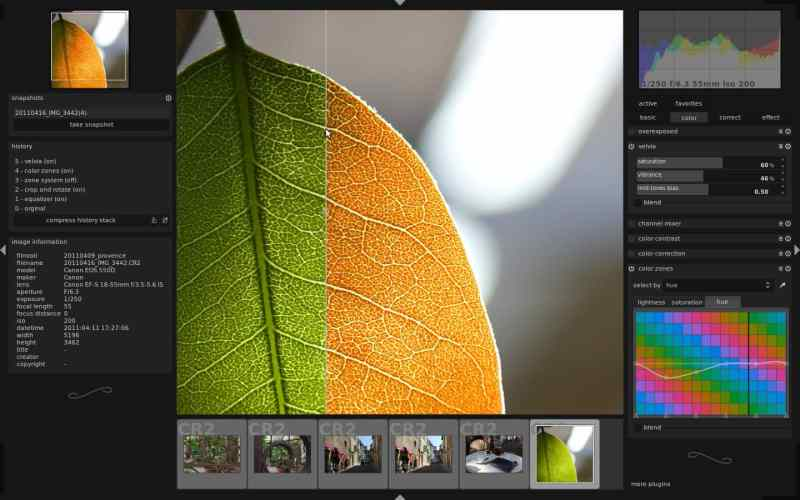 Darktable is Linux alternative of Adobe Lightroom