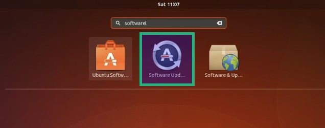 Software Updater in Ubuntu 17.10