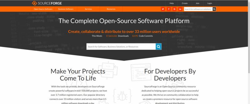 Source Forge is one the most popular websites for hosting open source software
