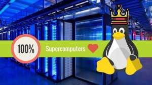 Supercomputers love Linux