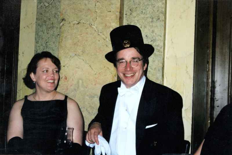 Linus Torvalds with his wife Tove Monni Torvalds
