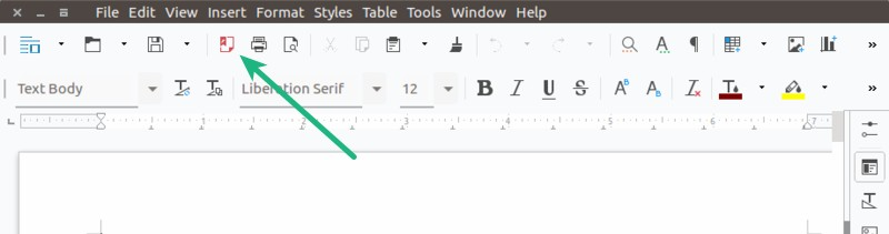 Save as PDF in LibreOffice