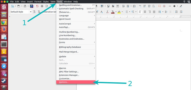 Save cursor position in LibreOffice