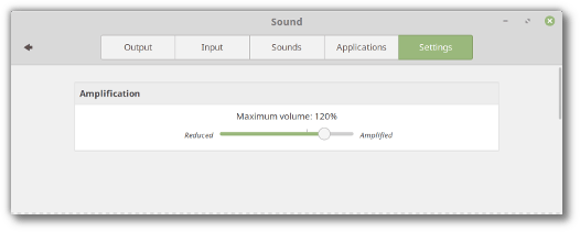 Linux Mint 19 volume more than 100%