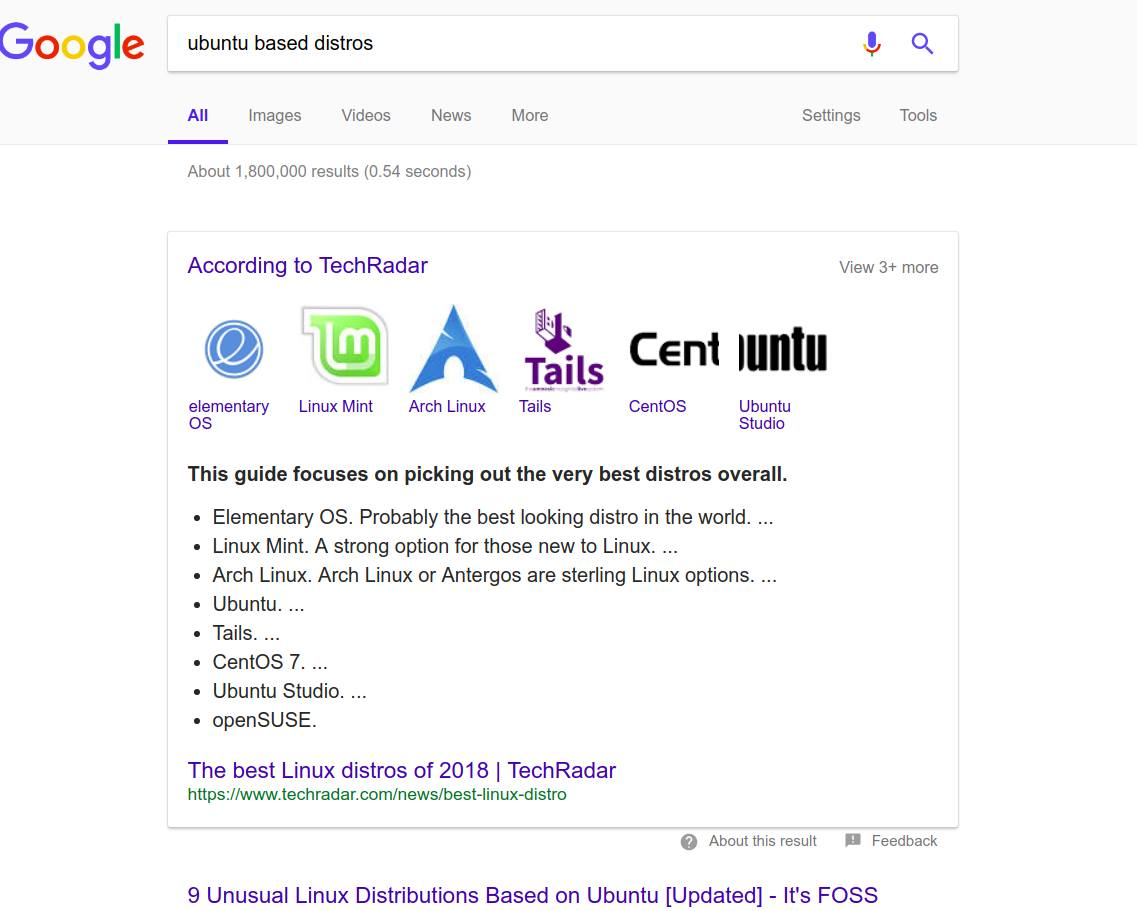 LOL! Google Thinks Arch Linux is Based on Ubuntu - It's FOSS
