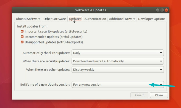 Get notified for a new version in Ubuntu