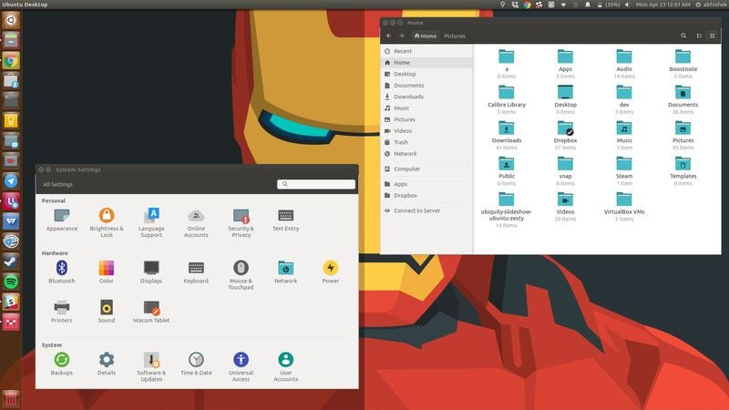 Pop icons in Ubuntu