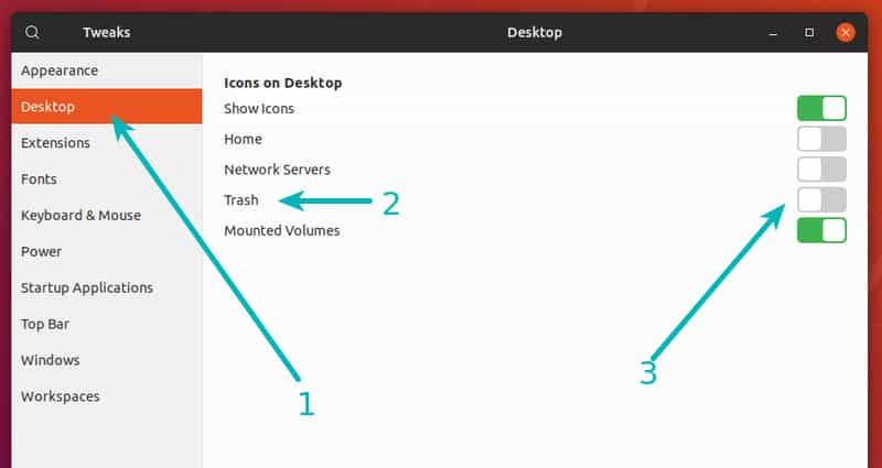 How to Remove Trash Icon From the Desktop in Ubuntu 17 10