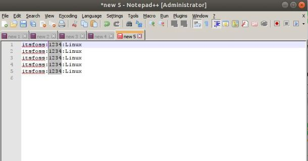 column-notepad++