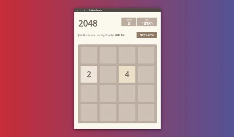 2048 Game in Ubuntu Linux