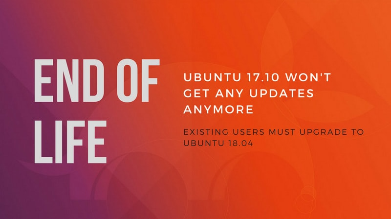 Ubuntu 17.10 reaches end of life