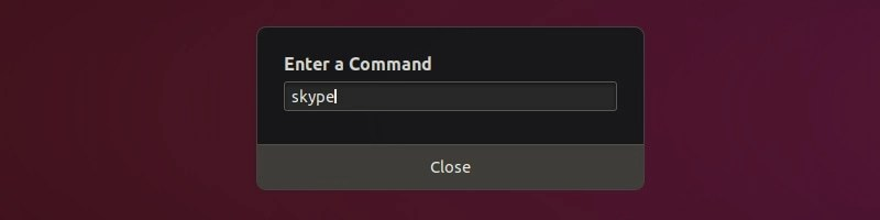 Alt+F2 to run commands in Ubuntu