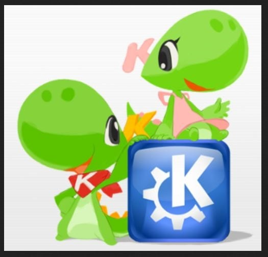 Konqi is KDE's mascot. Katie is his girlfriend and mascot of KDE women's project.