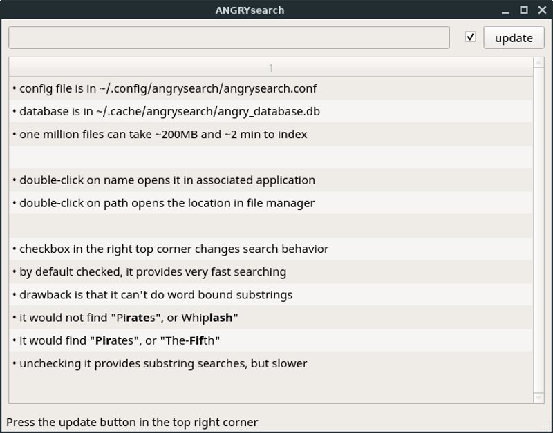 ANGRYsearch – Quick Search GUI Tool for Linux - It's FOSS