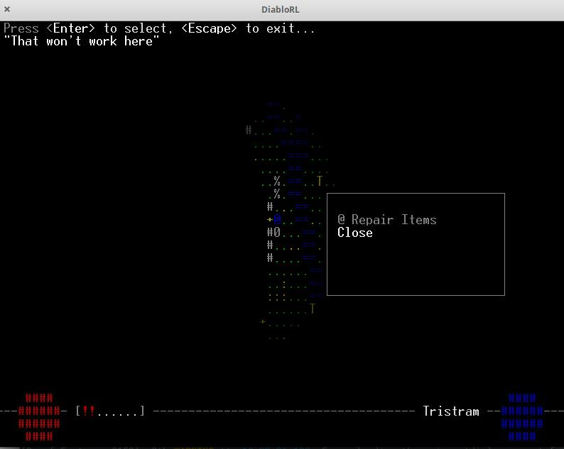 Diablo ascii RPG game