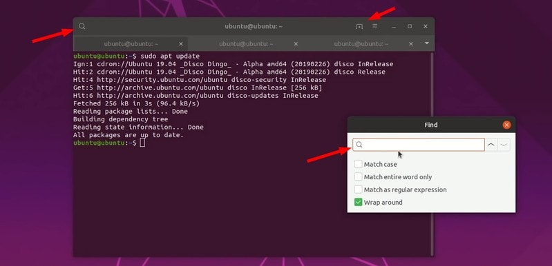 ubuntu 19.04 terminal improvement