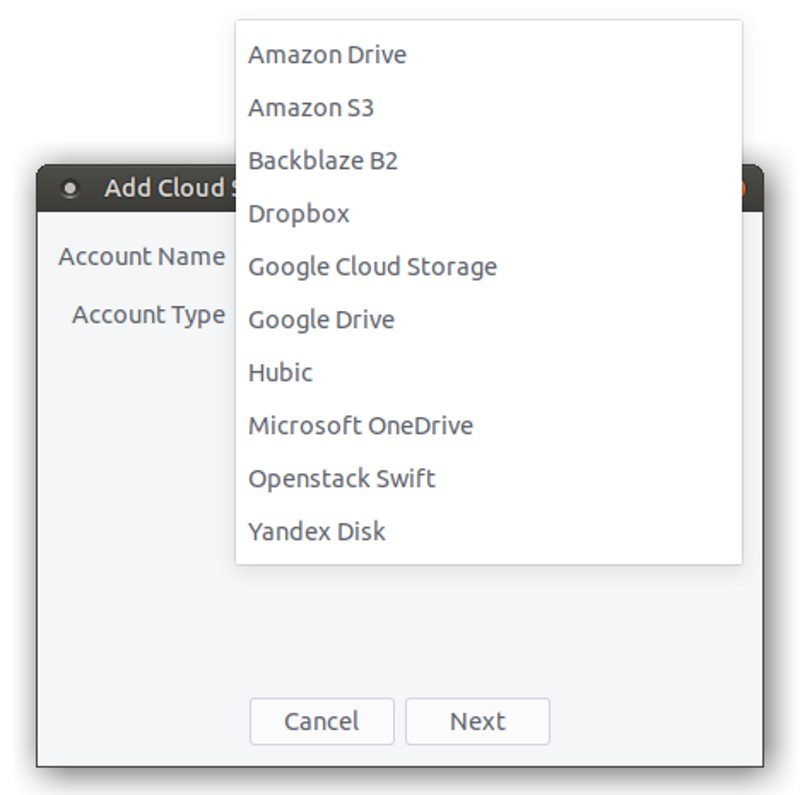 Cloud storage support in Polo file manager