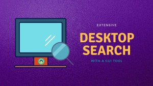 Search desktop with GUI tool in Linux
