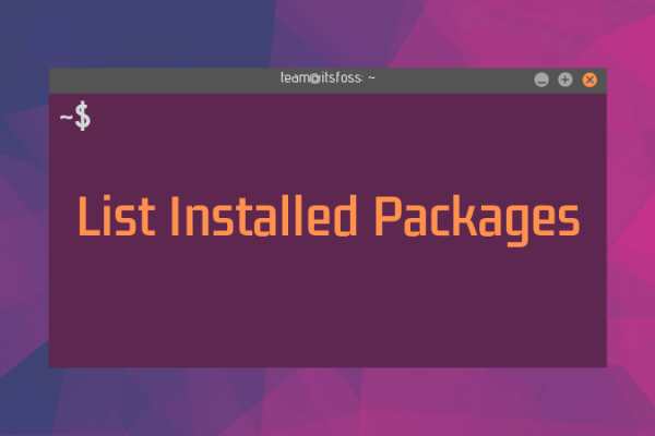 List installed Packages
