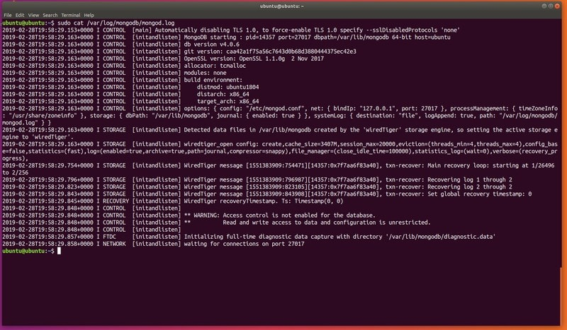 Check MongoDB logs to see if the process is running properly.