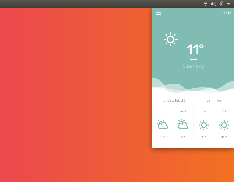Temps Weather App UI