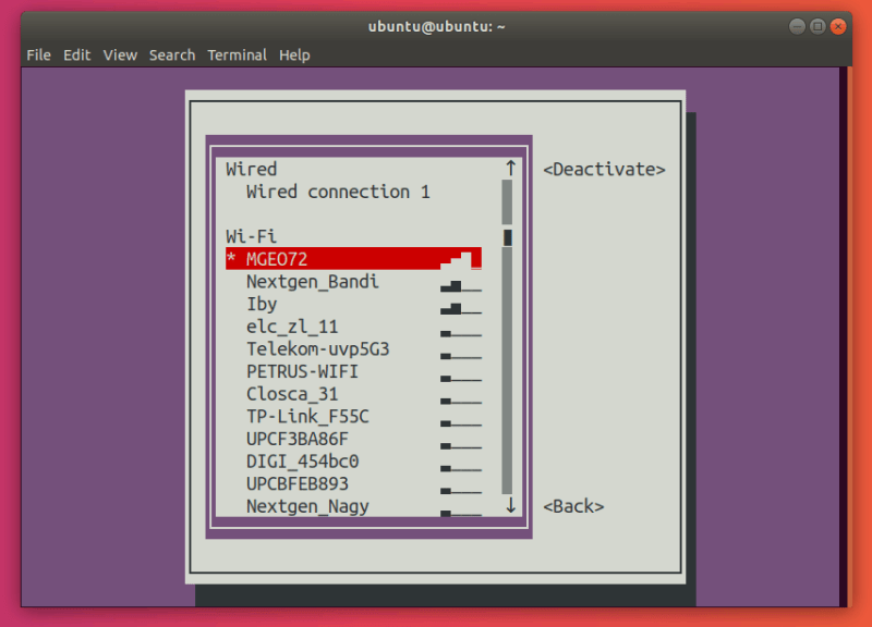 Select your connection in the nmtui connections menu.